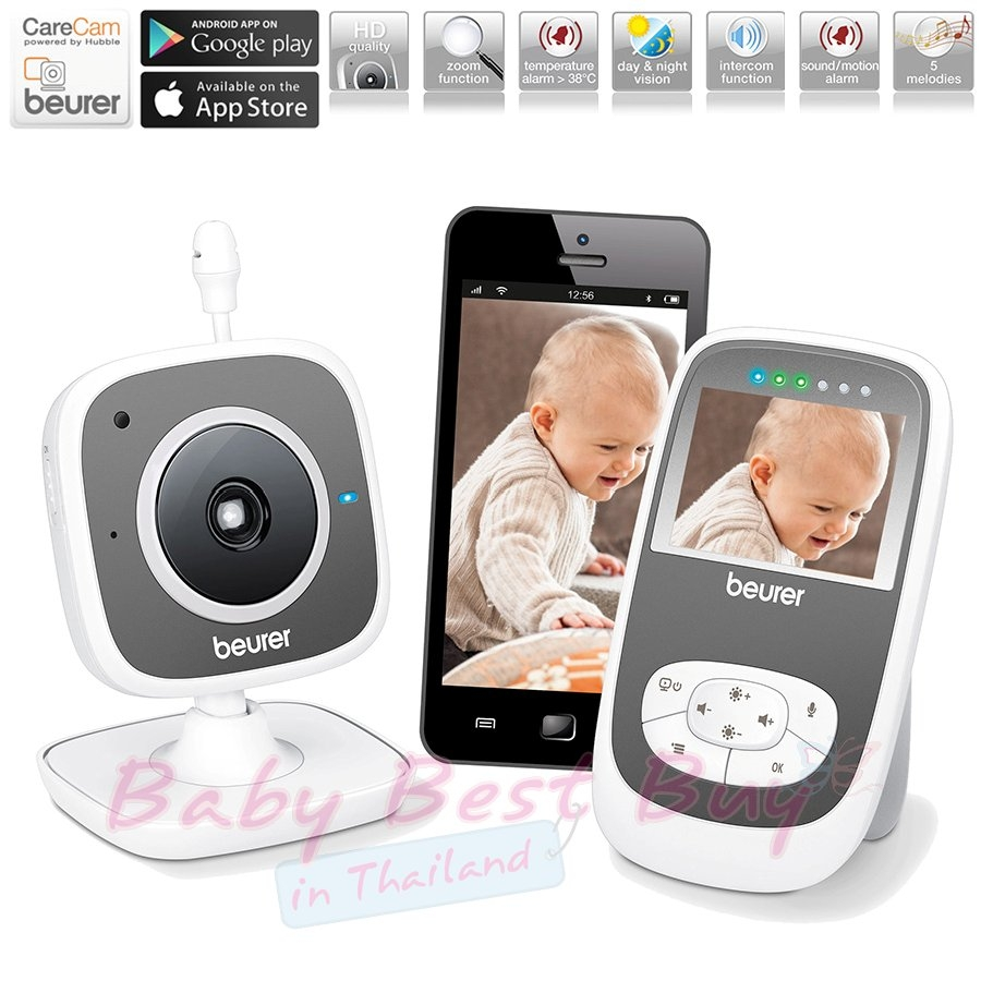 beurer baby video monitor by99 2 in 1. Black Bedroom Furniture Sets. Home Design Ideas