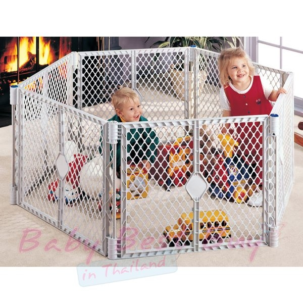 ... North State Superyard XT Portable Playard U0026 Gate. Click Here For Larger  Image