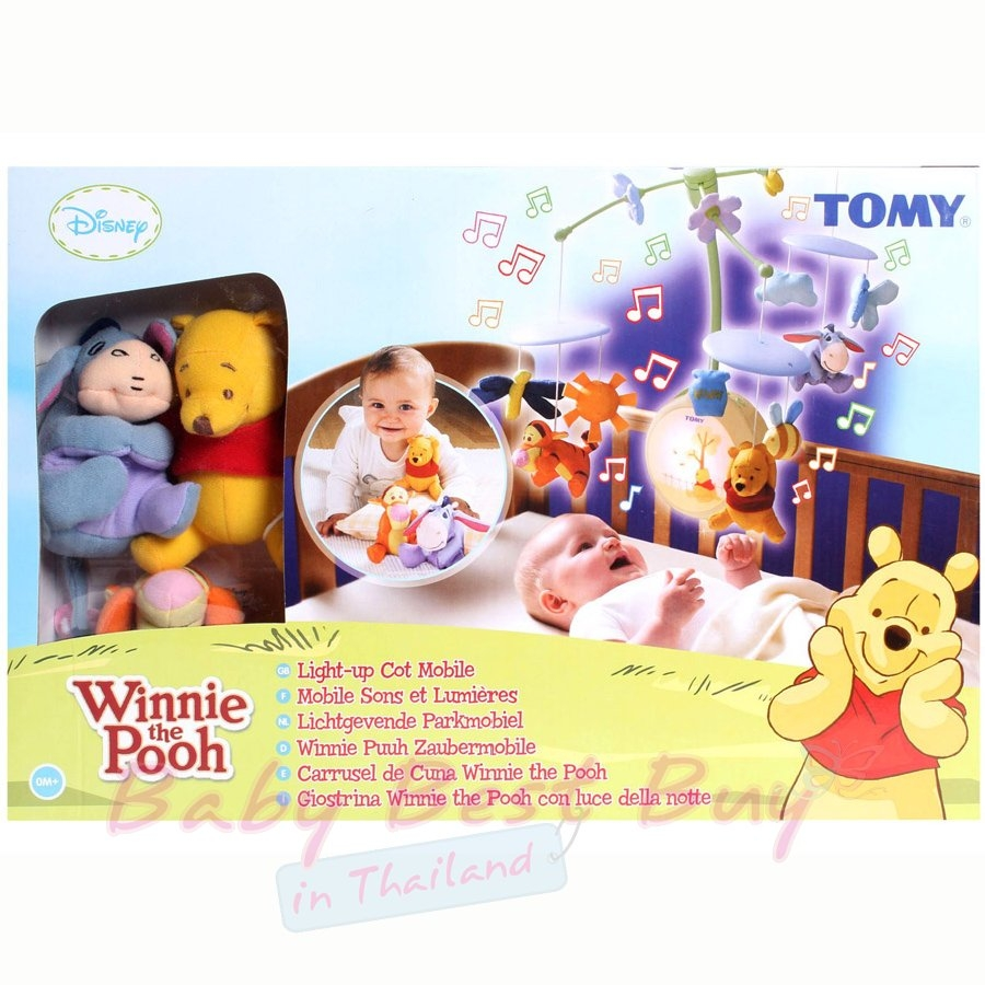 Tomy Winnie the Pooh Light-up Cot Mobile, baby cot